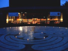 Outdoor Labyrinth at night