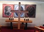 sanctuary cross in Lent