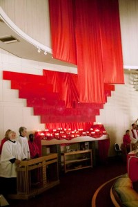 draping Pentecost 2012 back altar